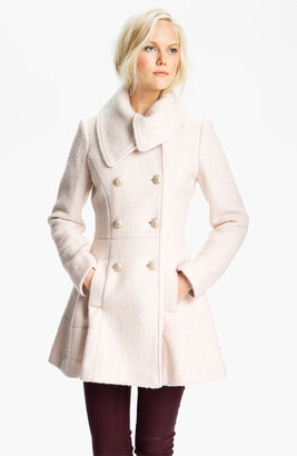 GUESS Asymmetrical Collar Boucle Coat (Online Exclusive)