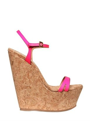 DSquared 160mm Leslie Cork And Leather Wedges