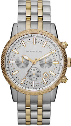 Michael Kors Men's Scout Chronograph Watch, Silver-Color/Golden