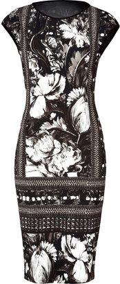 Roberto Cavalli Printed Dress in Black/White