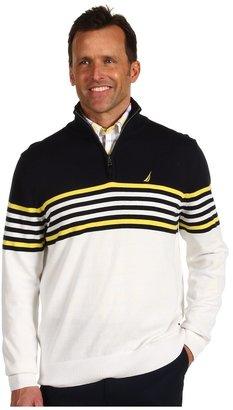 Nautica Main Sail Quarter Zip Sweater (Sail White) - Apparel