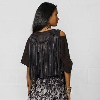 Denim & Supply Ralph Lauren Fringed Leather Vest