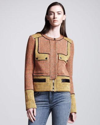 Proenza Schouler Colorblock Tweed Jacket