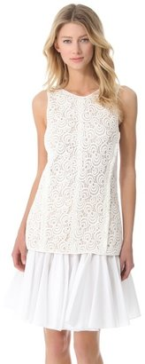 Vera Wang collection Sleeveless Tank with Side Vents