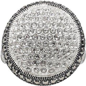 Swarovski Lavish By Tjm Lavish by TJM Sterling Silver Crystal Dome Ring - Made with Marcasite