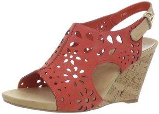 AK Anne Klein Women's Taja Nubuck Wedge Sandal
