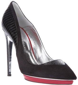 Azzaro textured heel