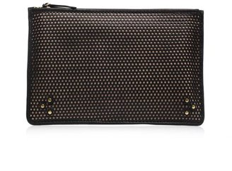 Jerome Dreyfuss Popoche perforated-leather clutch
