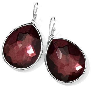 Ippolita Sterling Silver Wonderland Teardrop Earrings in Boysenberry