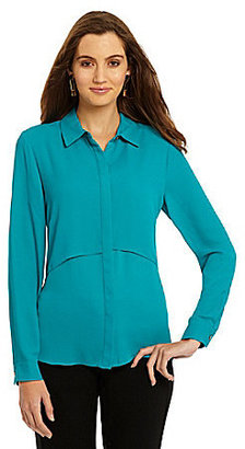 Vince Camuto Double Layer Button-Front Blouse