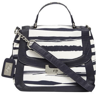 Dorothy Perkins Navy small stripe lady bag