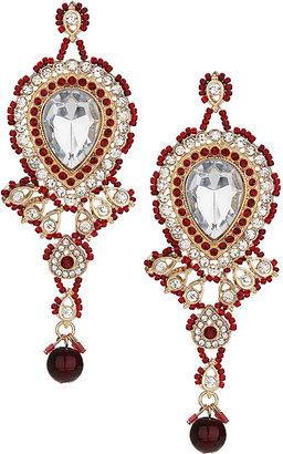 Topshop Premium teardrop stone earrings