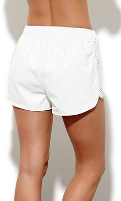 Motel Rocks Perforated Faux Leather Shorts