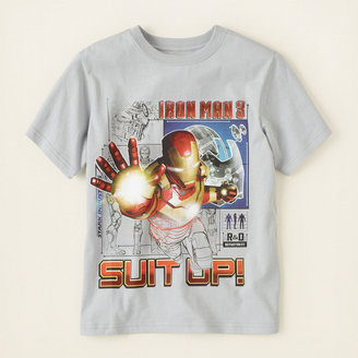 Iron Man suit up graphic tee