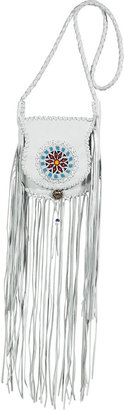 Totem White Pearl Embroidered Fringe Bag