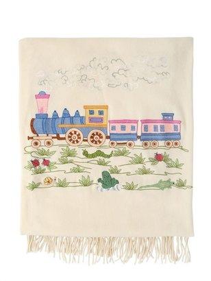 Embroidered Virgin Wool Plaid