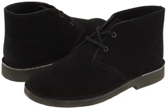 Clarks Desert Boot (Youth) (Black Suede) - Footwear