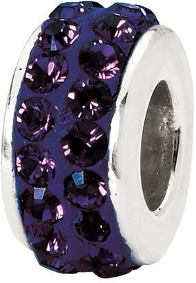Swarovski Prerogatives Sterling Purple Double Row Crystal Bead
