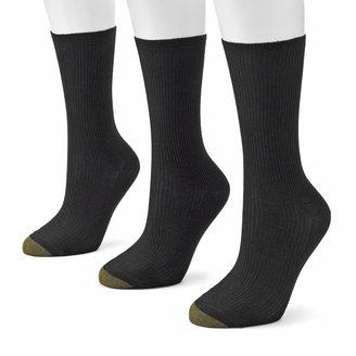 Gold Toe GOLDTOE 3-pk. Non-Binding Crew Socks
