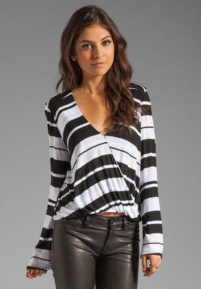 Blue Life Hayley Top in Black/White Stripe