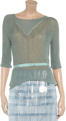 Nina Ricci Fine-knit cotton top
