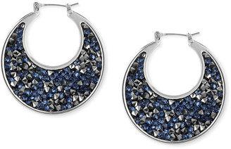 Kenneth Cole New York Earrings, Silver-Tone Faceted Bead Sculptural Hoop Earrings