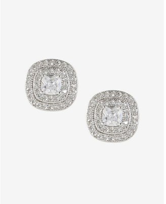 Express Double Halo Cubic Zirconia Stud Earrings $29.90 thestylecure.com