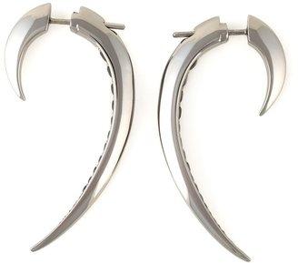 Shaun Leane 'Signature Tusk' black spinel earrings