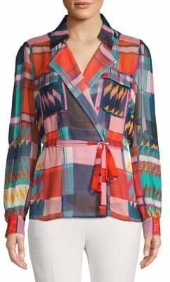 Diane von Furstenberg Multicoloured-Print Silk Blouse