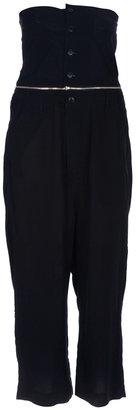 Yohji Yamamoto Adidas By strapless jumpsuit