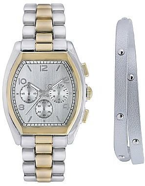 JCPenney 2-pc. Two-Tone Watch & Bangle Set