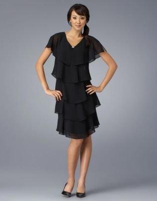 Patra Short Tiered V-Neck Dress