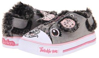 Skechers Shuffles Lighted 10294N (Toddler/Little Kid) (Grey/Pink) - Footwear