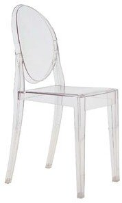 Kartell Ghost Stacking Patio Dining Side Chair (Set of 4 Upholstery: Transparent Crystal Clear