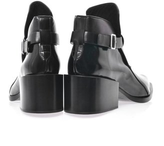 Jil Sander Buckle detail leather ankle boots