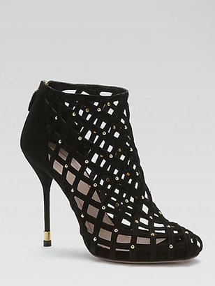 Gucci Isabel Suede Cutout Ankle Boots