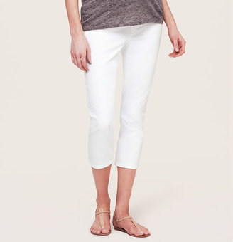 LOFT Maternity Cropped Jeans in White