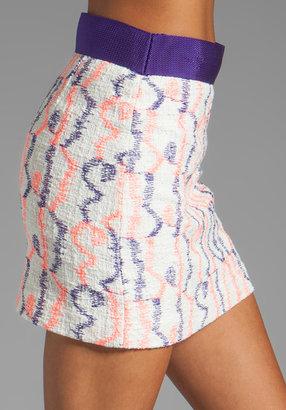 Milly Scribble Tweed Ribbon Mini Skirt