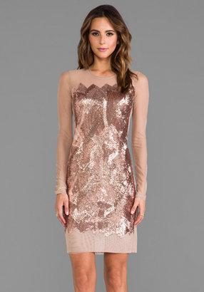 BCBGMAXAZRIA Anaya Sequin Dress