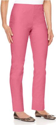 Charter Club Petite Pants, Slim It Up Straight Leg Cropped Trousers