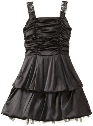 Ruby Rox Girls 7-16 Rouched Bodice Pick-up Dress with Stones