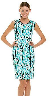 Calvin Klein Sleeveless Scoopneck Seamed Shift Dress