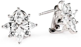 "Esprit Shining Starlet"" White Cubic Zirconia Hidden Snap On Earrings"