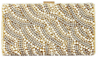 Kate Landry Social Pearl Stone Clutch