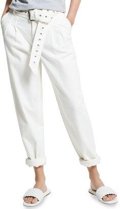 MICHAEL Michael Kors Pleated Denim Pants w/ Belt