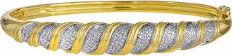 JCPenney FINE JEWELRY 1/10 CT. T.W. Diamond Bangle Bracelet