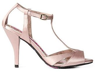 Betseyville by Betsey Johnson Piper Satin T-Strap Sandals