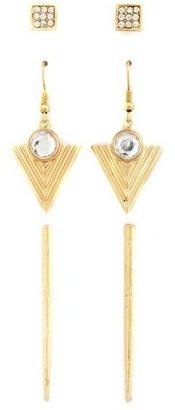 Charlotte Russe Metallic Spike Earring Set