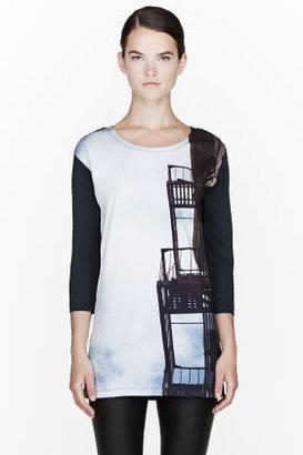 Maison Martin Margiela Black Fire Escape Print T-shirt