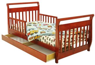 Dream On Me Sleigh Toddler Bed w/ Trundle - Cherry
